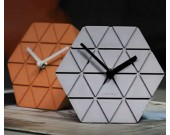 Handmade Concrete hexagonal Table Alarm Clock