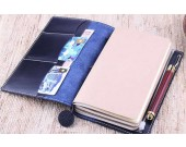 Handmade Refillable Cow Genuine Leather Traveler's Notebook Business Writing Portfolio