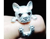 925 Silver Handmade Cute Dog Ring
