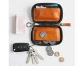 Handmade Genuine Leather Car Key Case Wallet Key Holder Bag for Men Women