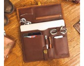 "Handmade Genuine Leather  Laptop Sleeve Leather Case Tablet Carrying Bag for Macbook Pro/Air 13"" 15"""