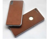 Handmade Genuine Leather Protective Skin Phone Back Shell for iPhone XS Max/XS/XR/X
