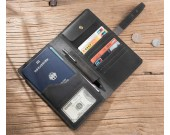 Handmade Genuine Leather Travel Credit Card Holder Wallet & Documents Organizer