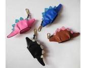 Handmade Leather Dinosaur Shaped Coin Purse