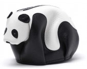 Handmade Leather Panda Shaped Coin Purse
