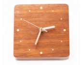 Handmade Modern Desk Clock,Red Rosewood