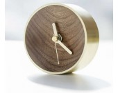 Handmade Natural Wood & Brass Desk Clock