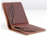 Handmade Slim Leather Wallet Credit Card Holder