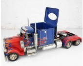 Handmade Trailer Carrier Truck Model Desk Tissue Box