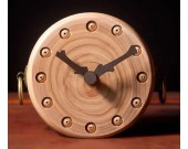 Handmade Wooden Art Desk Alarm Clock