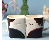 Kissing Each Other  Color Change Couple Mugs