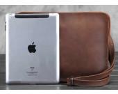 Leather Messenger Satchel Tablet Bag Fit under to 10 inch Tablet