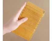 Handmade Leather Thin Credit Card Holder Multi-card Wallet