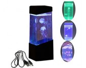 Led Mini Desk jellyfish Fish Aquarium Lamp