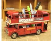 London Double-Decker Bus  Model Kit Pencil Holder