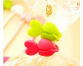 6 pcs/pack Love Heart Silicone  Bag Seals Storage Set