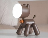 USB Lovely Dog Rechargeable  Night Light Children Bedroom Decor LED Lamp