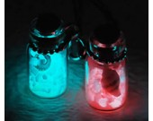 Luminous Star Sand from Secret Beach of Okinawa Mobile Phone Strap- Set of 2