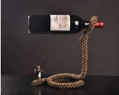 Magic Lasso Rope Wine Bottle Holder With Rabbit Magician