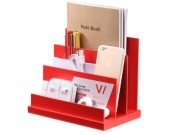 MDF  Board Desktop File Organizer Sorter with 3 Vertical Compartments