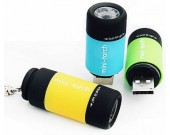 Mini USB Rechargeable LED Flashlight