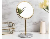 Modern Stainless steel Frame Mirror with Marble Base