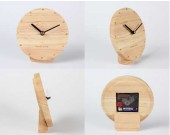 Modern Style Wooden Desk Clock