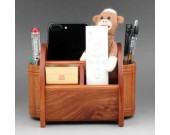 Multifunction Wood Pen Pencil Remote Control Plant Holder Desk Storage Box Container