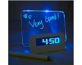 Multifunctional Fluorescent Message Board Clock