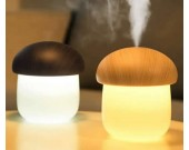 Wooden Lid Mushroom Shaped Night Light Humidifier