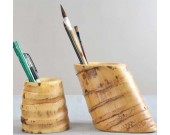 Nature Bamboo Root Pen Pencil Holder
