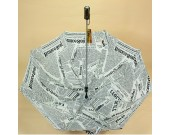 Newspapers Patterned Folding  Umbrella