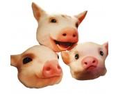 Pig Head Plush Doll Cushion Pillow