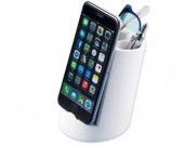 Plastic Pen Holder with Phone Holder Desk Organizer Mobile Bracket Stand Storage