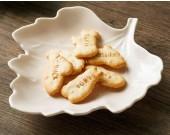 Porcelain Maple Leaf Dessert Bowls Snack Bowls, Set of 2