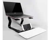 Portable Aluminum Alloy 2 in 1 Notebook PC Desk Holder  and Phone Stand
