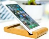 Portable Bamboo Wooden Desktop Cell Phone Holder