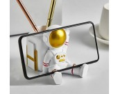 Cute Little Astronaut Office Pen Holder Desktop Decoration Phone Holder