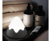 Rechargeable Adjustable Brightness, Touch & Sound Control Cone  Night Light Bedside Lamp