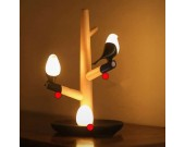 USB Songbird & Egg Night light on Wood Branch