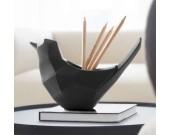 Resin Bird Pen Pencil Holder Desktop Organizer Home Ornaments
