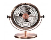 Retro Metal USB Fan,Bronze