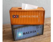 Retro Metal Shipping Container Tissue Box