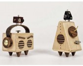 Robot Wooden Music Box