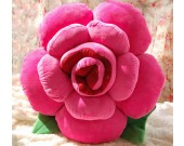 Rose Shaped Decorative Pillow Back Cushion