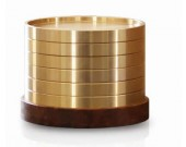 Round Brass Coasters,Pack of 7