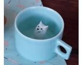 Samoyed Figurine Ceramic Coffee Cup