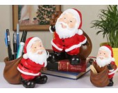 Santa Claus Desk Decoration Pencil Holder,Toothpick Holder,Piggy Bank
