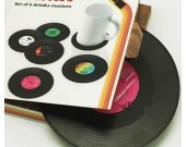 Set of 6 Vinyl Record Style  Drinks Coaster