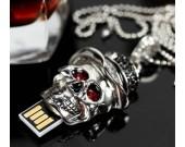 Skull Skeleton Head Shape USB Flash Drive